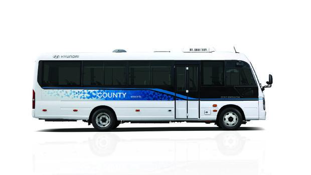 Minibus listrik Hyundai, County Electric