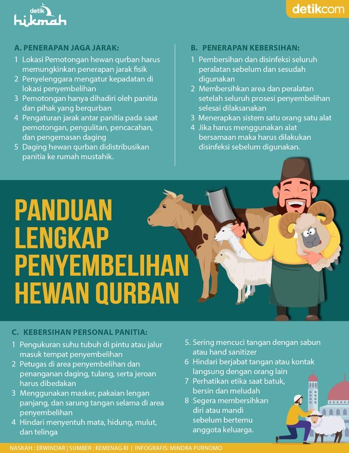 INfografis Panduan lengkap penyembelihan hewan qurban
