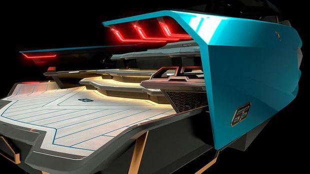 Kapal cepat Lamborghini 63 Tecnomar