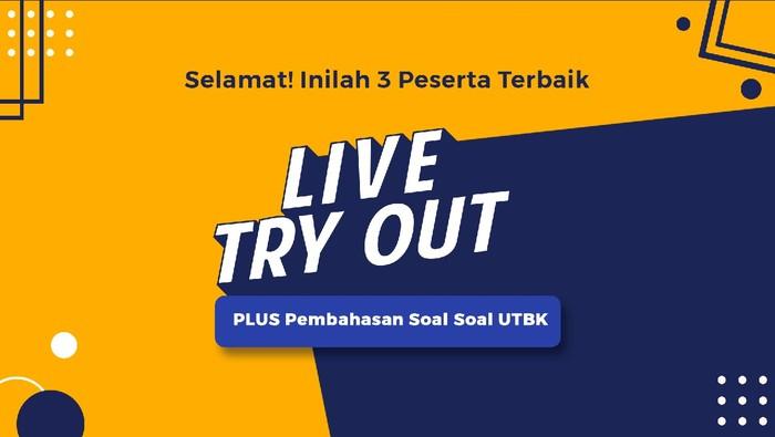 Live Try Out detikcom, 3 peserta terbaik. (detikcom)