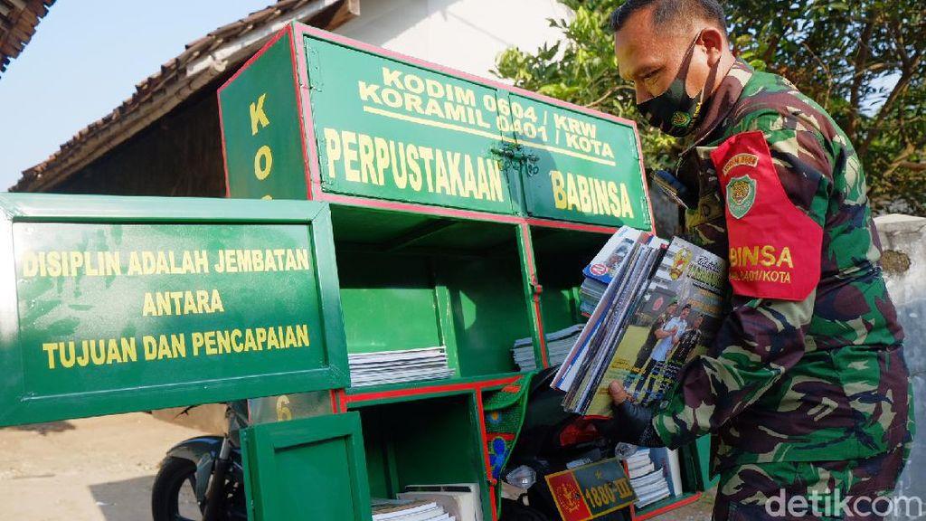 Bikin Perpustakaan Keliling, TNI Karawang Sempat Disangka Jual Kerupuk