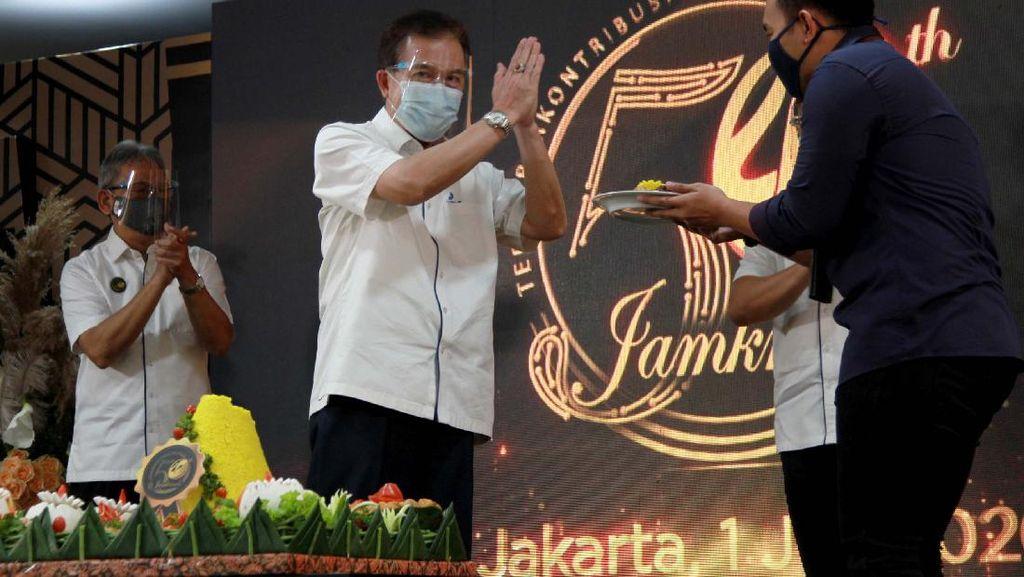 Potret Perayaan HUT Jamkrindo Secara Virtual