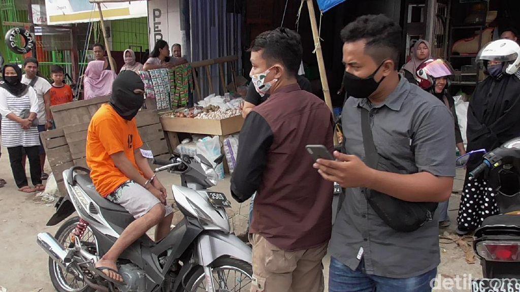 Reka Ulang, Pencuri Bawang di Polman Juga Diduga Curi Sandal Dagangan