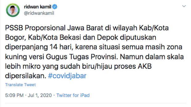 Twitter Ridwan Kamil