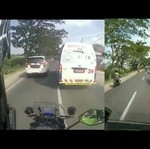Egois, Pengemudi Mobil Ini Tak Kasih Jalan untuk Ambulans