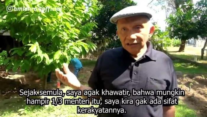 Amien Rais bicara soal Jokowi yang marah-marah ke menteri.