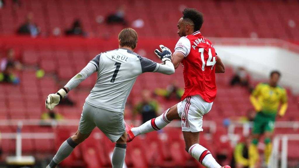 Arsenal Vs Norwich: Aubameyang-Xhaka bawa The Gunners Memimpin 2-0