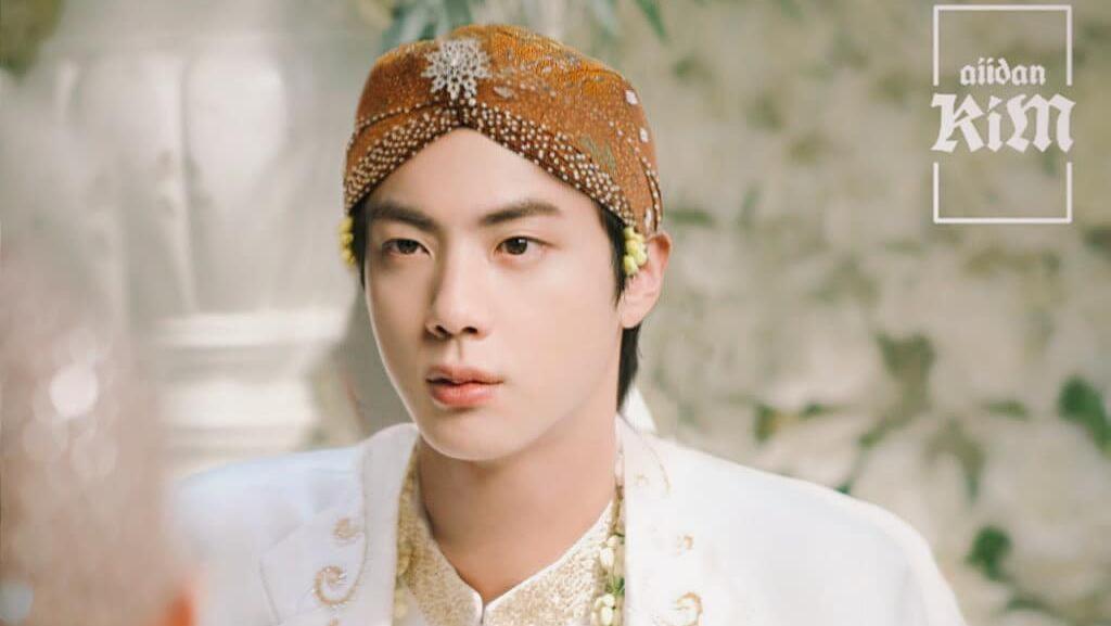 Begini Komentar Jin BTS Saat Melihat Fotonya Diedit Jadi Pengantin Jawa