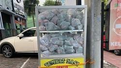 Inspiratif! Di Yogyakarta Ada Etalase Nasi Gratis, Siapapun Bisa Ambil dan Isi
