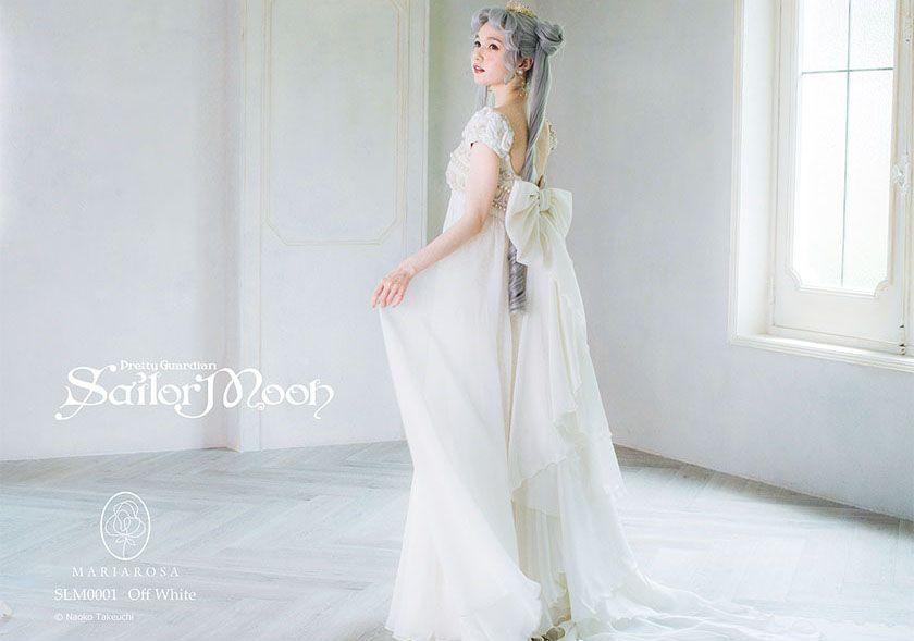 Gaun pengantin terinspirasi dari Sailor Moon.