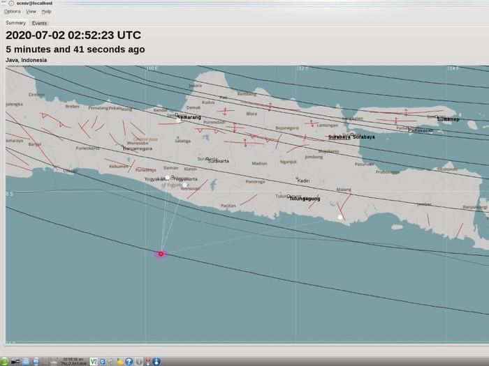 Gempa 3,6 SR Guncang DIY, Kamis (2/7/2020).