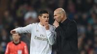 James Rodriguez Ngeluh Tak Banyak Bermain, Zidane Bilang Ini