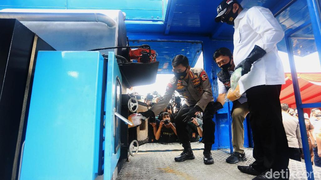 Video Kapolri Hingga Ketua MPR Musnahkan 1,2 Ton Sabu