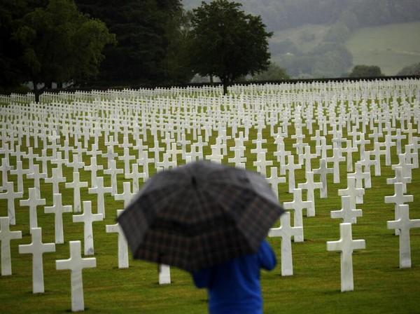 Museum Peringatan Perang Dunia II itu diketahui berada tak jauh dari area pemakaman Militer Amerika Henri-Chapelle dimana diketahui ribuan tentara dimakamkan di area pemakaman tersebut. AP Photo/Francisco Seco.