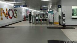 PSBB Transisi Diperpanjang, Begini Suasana di MRT Jakarta