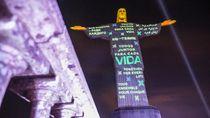 Patung Kristus di Rio Refleksikan Penghormatan untuk Korban Corona