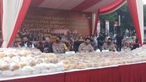 Kapolri hingga Ketua MPR Hadiri Pemusnahan 1,2 Ton Sabu di Polda Metro