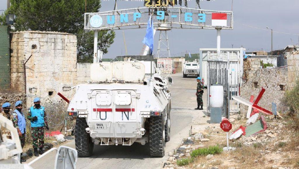 Tingkatkan Kewaspadaan, Prajurit TNI Misi Perdamaian PBB di Lebanon Latihan BMR