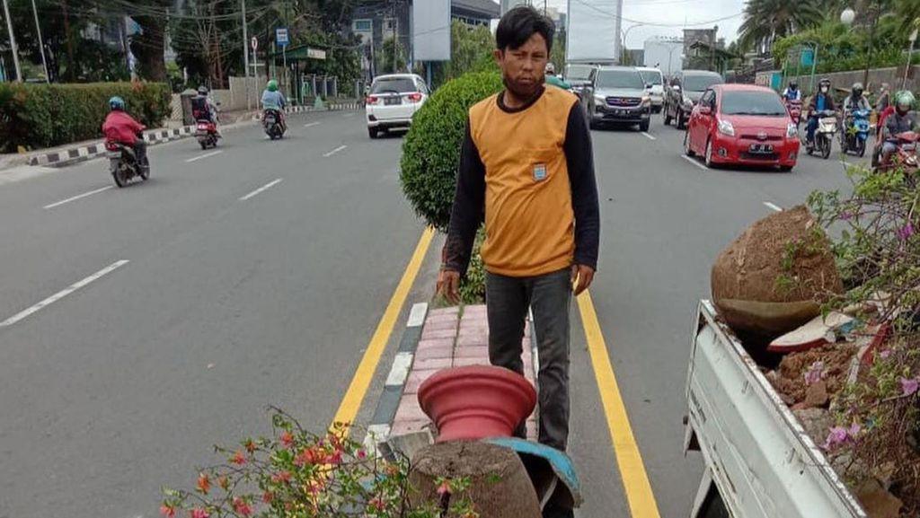 Puluhan Pot Bunga Dirusak Orang Tak Dikenal, Pemkot Palembang Lapor Polisi