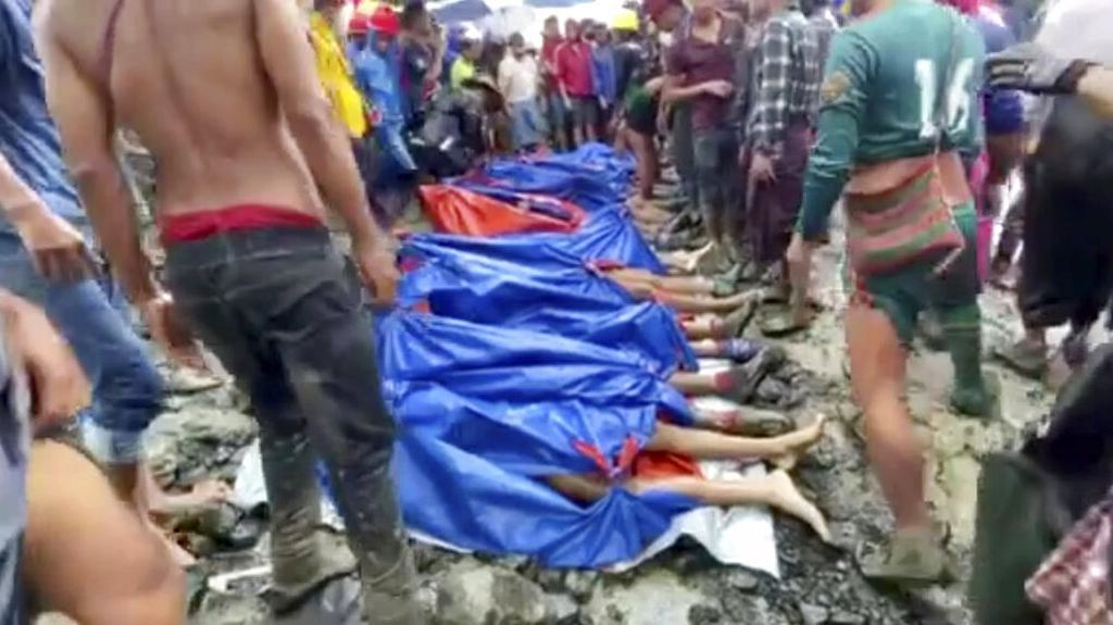 Video Longsor di Tambang Batu Myanmar, Korban Tewas Jadi 160 Orang
