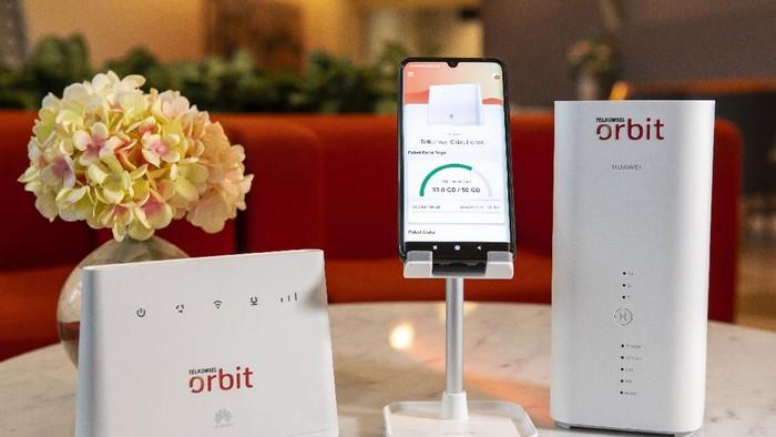 Telkomsel Orbit jadi andalan terbaru Telkomsel di masa pandemi COVID-19. Produk layanan operator seluler anak perusahaan plat merah ini menyasar segmen perumahan dengan layanan internet rumah berbasis modem WiFi.