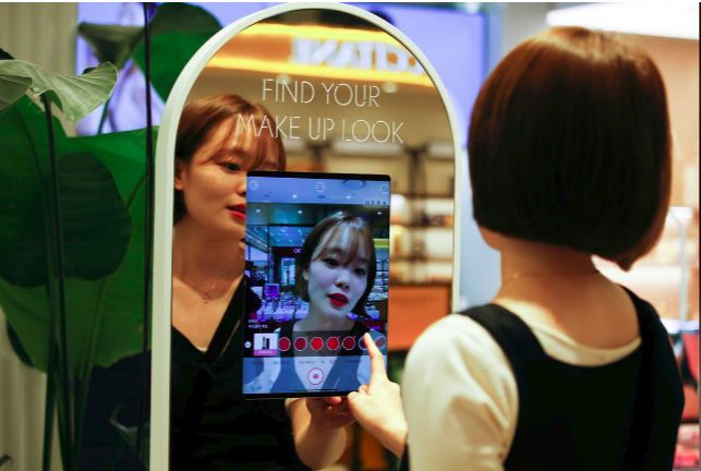 cermin AR korea selatan makeup