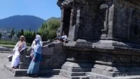 Kepala UPT Pengelolaan Objek Wisata Dinas Kebudayaan dan Pariwisata Banjarnegara Sri Utami mengatakan, hingga saat ini obyek wisata Dieng masih tutup. Namun, persiapan terus dilakukan termasuk melakukan simulasi internal (Uje Hartono/detikcom)