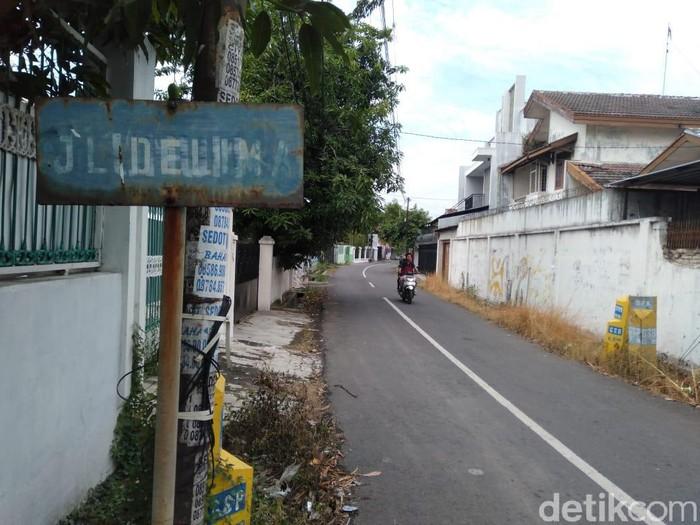 Jalan Delima, Kota Tegal lokasi begal payudara, Jumat (3/7/2020).