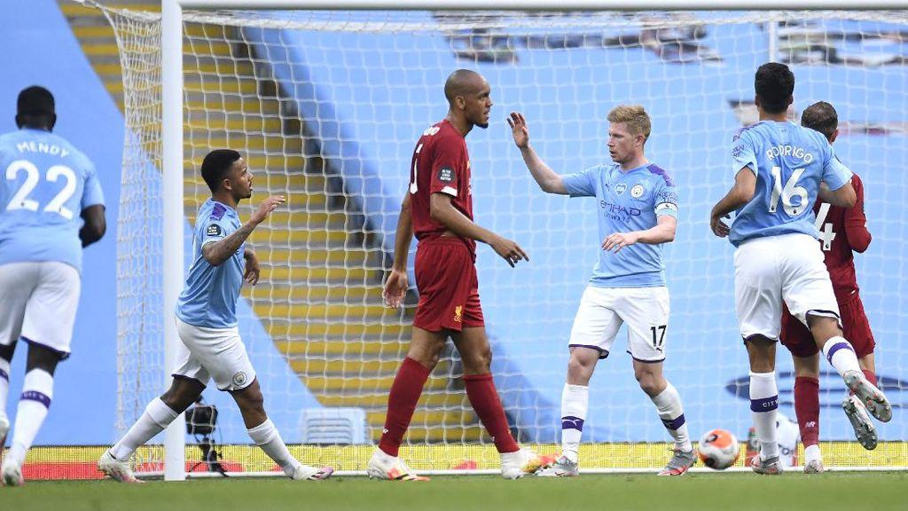 Man City Gebuk Liverpool 3-0 di Babak Pertama