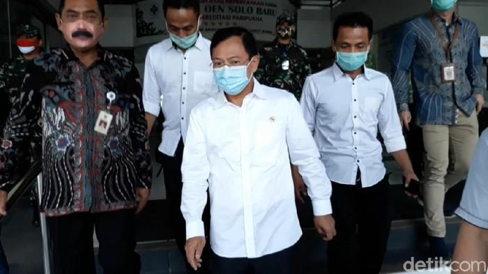 Menkes Terawan Agus Putranto kunjungi Sukoharjo, Jumat (3/7/2020).