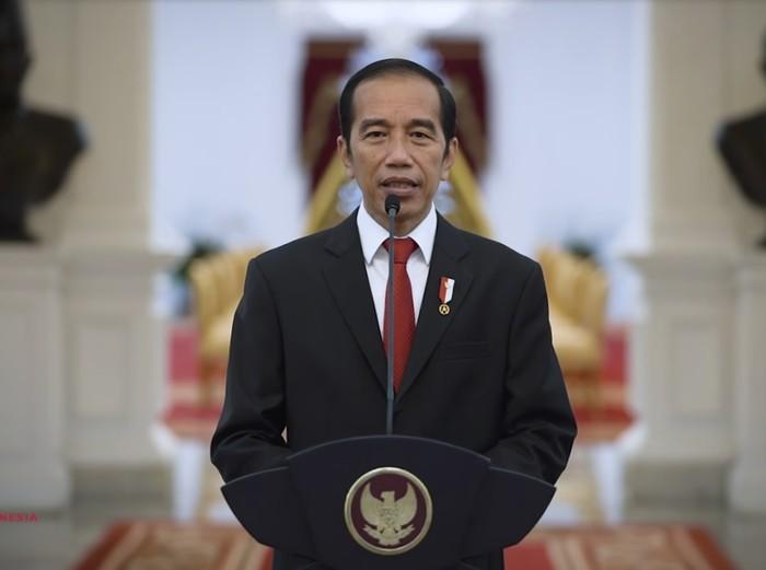 Presiden Joko Widodo memberi sambutan di sidang Terbuka ITB, Jumat (3/7/2020).