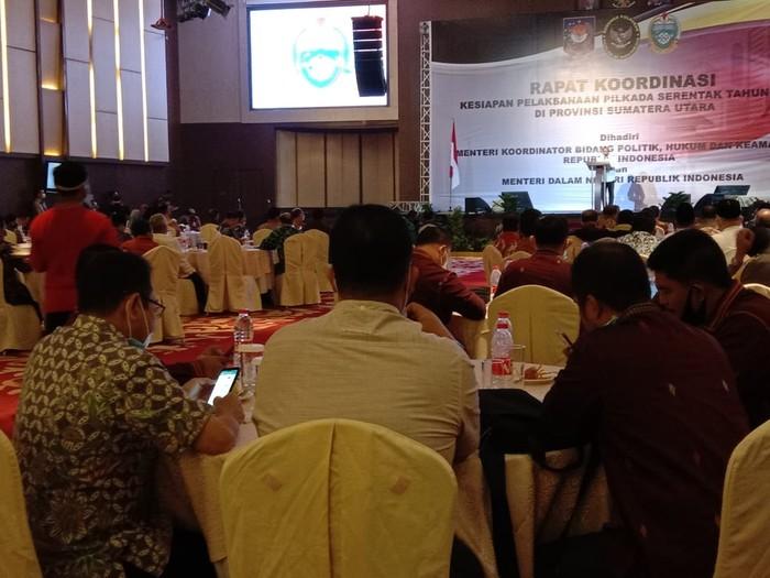 Rapat Koordinasi Pilkada Serentak di Sumut (Ahmad Arfah-detikcom)