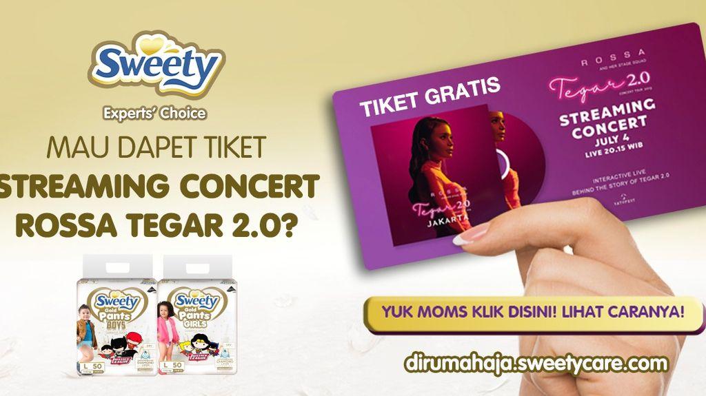 Beli Popok Terbaru dari Sweety Dapat Tiket Konser Rossa!