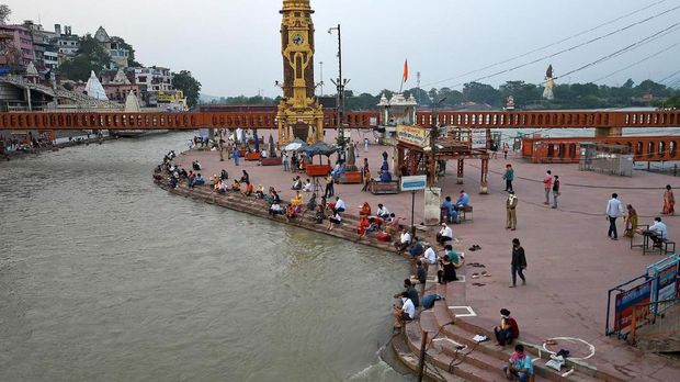 Sungai Gangga di Haridwar