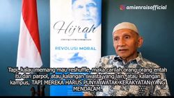 Amien Rais Bicara Lagi Soal Reshuffle, Kini Singgung Kriteria Menteri Jokowi