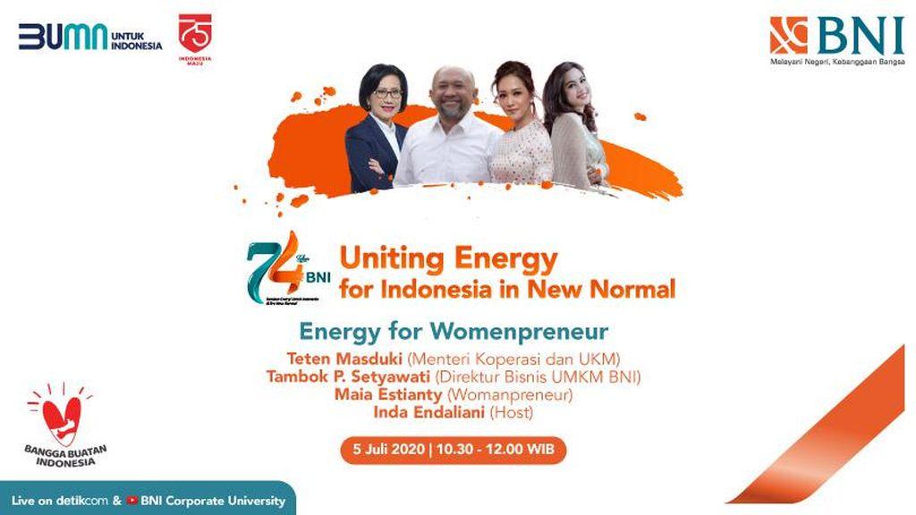 Intip Tips Womenpreneur Sukses ala Maia Estianty & Menkop di HUT ke- 74 BNI
