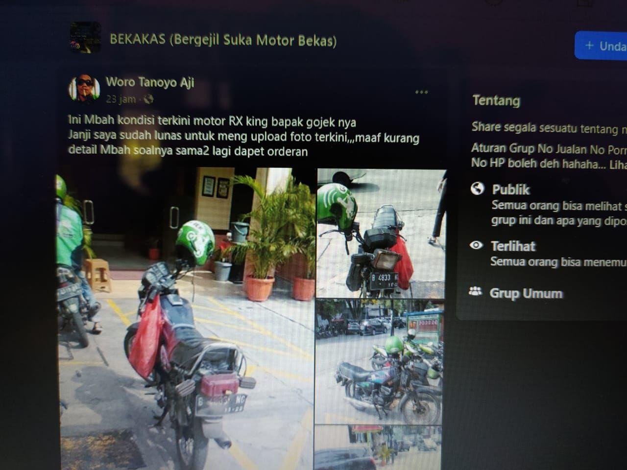 Kondisi terkini Yamaha RX King Hermanto