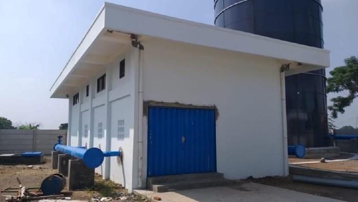 Pembangunan SPAM Umbulan untuk menambah pasokan air bersih perpipaan dilakukan pada 5 kota/kabupaten sudah mencapai 98,22%.