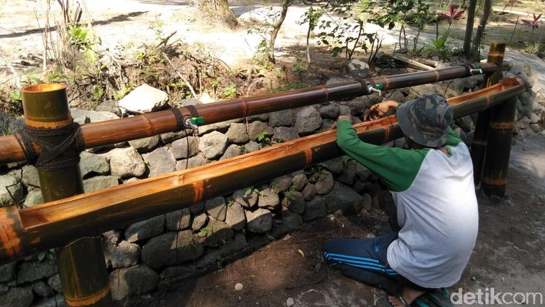 Wisata alam (OWA) Tlogo Muncar di Taman Nasional Gunung Merapi mematangkan protokol kesehatan sebelum buka saat pandemi virus Corona.
