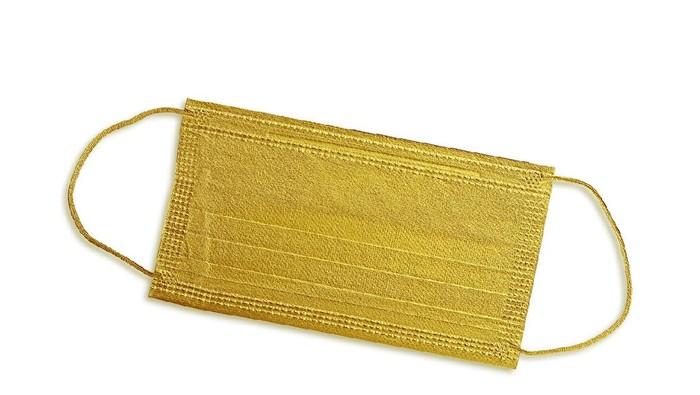 Golden surgical mask