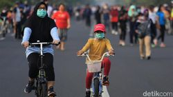 Alasan Ortu Bawa Anak di CFD Jl Gajah Mada: Daripada Tidur Melulu