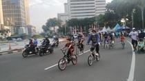 Di Kawasan Bundaran HI, Banyak Pesepeda Tak Pakai Lajur Khusus