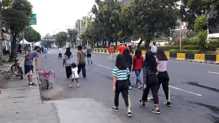 Suasana CFD Jalan Gajah Mada-Hayam Wuruk Minggu (5/7) pagi