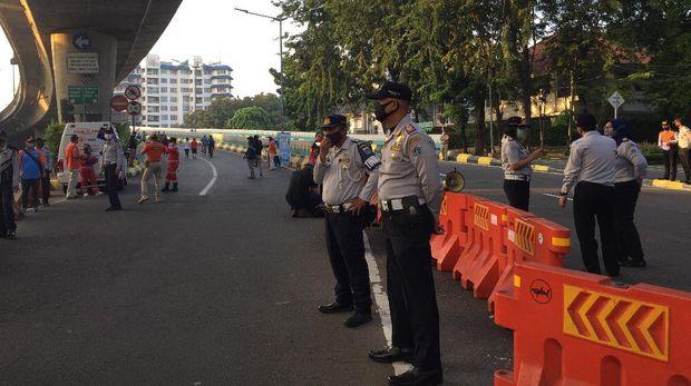 Suasana kawasan pesepeda JLNT Antasari, Minggu (5/7) pagi.