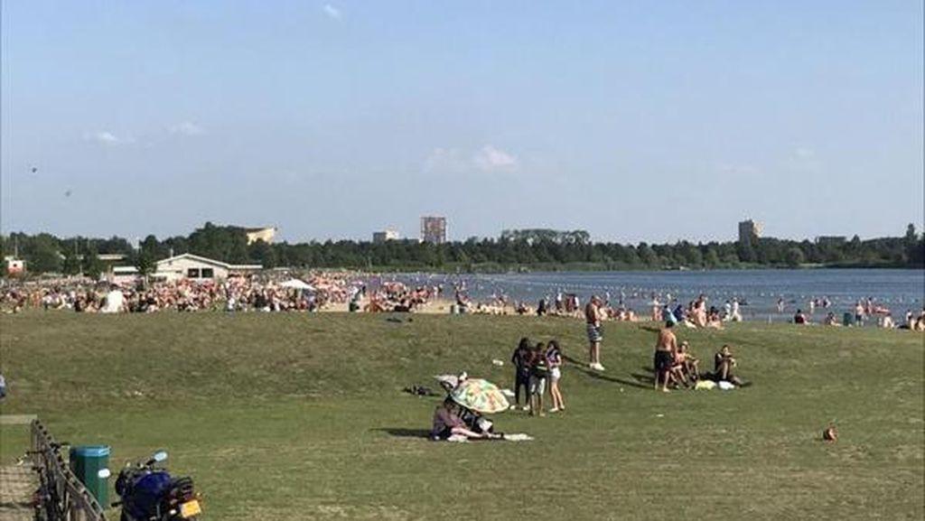 Biar Lagi Pandemi, Taman Kota Ini Selalu Ramai