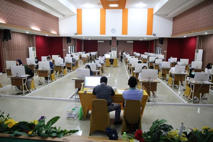 UTBK di UPN Veteran Jakarta, 5 Juli 2020. (Dok UPN Veteran Jakarta)