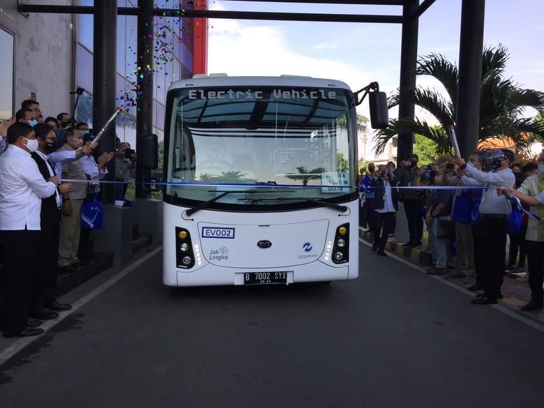 Bus Listrik yang Diuji Coba TransJakarta