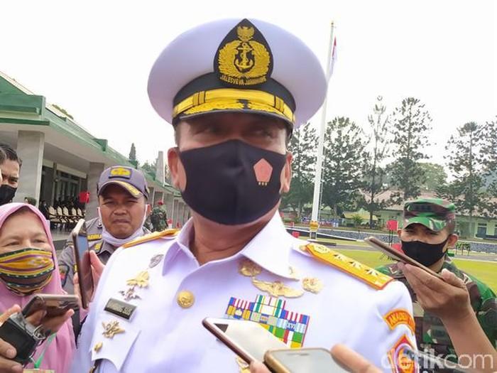 Danjen Akademi TNI Letjen TNI (Mar) Bambang Suswantoro di Lapangan Pancasila Kompleks Akmil Magelang, Senin (6/7/2020).