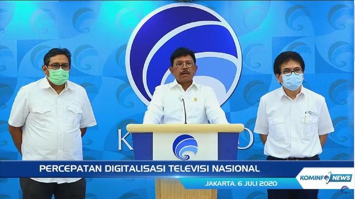 Menteri Komunikasi dan Informatika (Menkominfo) Johnny G. Plate mengungkapkan bahwa percepatan digitalisasi televisi nasional menjadi kebijakan pemerintah yang dinilai mendesak.