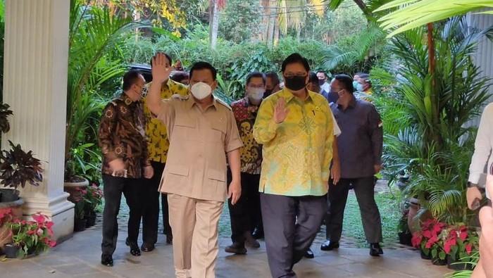 Ketum Golkar AIilangga Hartarto temui Ketum Gerindra Prabowo Subianto